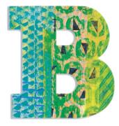 B - Peacock Holzbuchstaben
