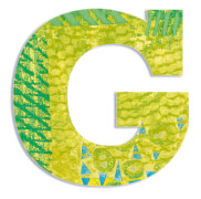 G - Peacock Holzbuchstaben