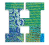 H - Peacock Holzbuchstaben