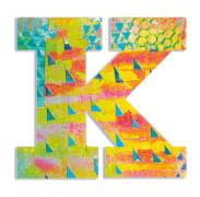 K - Peacock Holzbuchstaben