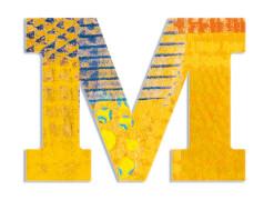 M - Peacock Holzbuchstaben