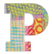 P - Peacock Holzbuchstaben