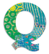 Q - Peacock Holzbuchstaben