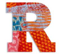 R - Peacock Holzbuchstaben