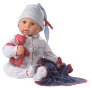 Götz 1161034 Babypuppe Cookie mit Zubehör, weiß/blau, 48cm