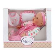 TOITOYS CUTE BABY Babypuppe 40cmFlascheLätzchen, 4-fach sortiert