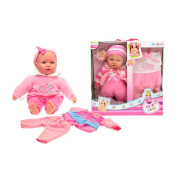 TOITOYS CUTE BABY Baby doll 40cm gift set, 2-fach sortiert