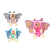 TOITOYS CUTE BABY Babpuppe 'Schmetterling', 3-fach sortiert