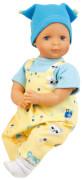 Schildkröt Puppe Schlenkerle 37 cm mit Malhaar und blauen Malaugen, Kleidung gelb/bleu