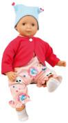 Schildkröt Puppe Schlenkerle 37 cm mit Malhaar und braunen Malaugen, Kleidung rose/pink/bleu