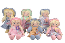 Laura Dolly Stoffpuppe, 6-sortiert