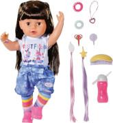 Zapf 830352 BABY born Sister brunette 43cm