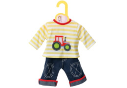 Zapf BABY born® Kleider Kollektion Dolly Moda Shirt mit Hose, Größe 30-36cm, ab 1 Jahr
