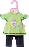 Zapf BABY born® Kleider Kollektion Dolly Moda Shirt mit Leggings, Größe 38-46cm, ab 3 Jahren, mehrfarbig