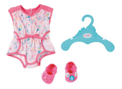 Zapf BABY born® Shorty Pyjama mit Clogs, ab 3 Jahren