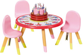 Zapf 831076 BABY born Happy Birthday Partytisch