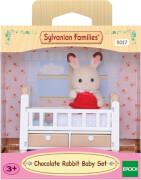 Sylvanian Families 5017 Schokoladenhasen Baby mit Babybett
