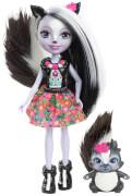 Mattel Enchantimals Stinktiermädchen Sage Skunk Puppe