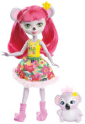 Mattel FNH24 Enchantimals Koalabär Mädchen Karina Koa