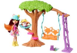 Mattel FRH45 Enchantimals Felicity FoJa und Flick Spielplatz-Abenteuer