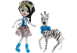 Mattel FKY75 Enchantimals Themenpack Zelena Zebra