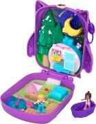 Mattel GKJ47 Polly Pocket Nachteulen-Campingplatz Schatulle