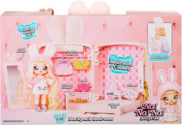 Na! Na! Na! Surprise 3-in -1 BackPack Bedroom Playset- Pink Bunny