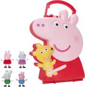 Jazwares Peppa Pig - Sammelkoffer mit 4 Freunden