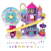 Mattel GYK44 Polly Pocket Pollyville Regenbogen-Einhornspaß Freizeitpark