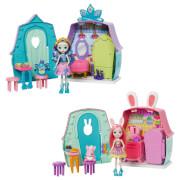 Mattel GYN59 Enchantimals Häuschen & Puppe Spielset, sortiert