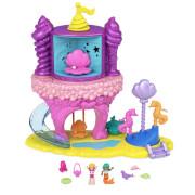 Mattel GYK42 Polly Pocket Regenbogen-Einhornspaß Meerjungfrauen-Bucht