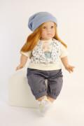 Schildkröt Puppe Elli 52 cm, rote Haare, blaue Schlafaugen