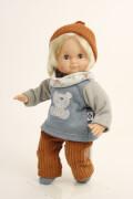 Schildkröt Puppe Schlummerle 32 cm, blonde Haare, blaue Schlafaugen