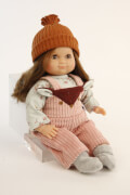 Schildkröt Puppe Schlummerle 32 cm, braune Haare, braune Schlafaugen