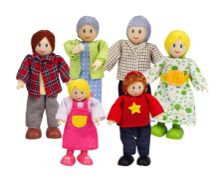Hape Puppenfamilie Helle Hautfarbe
