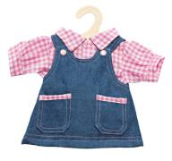Puppen-Jeanskleid / Bluse 28 - 33 cm