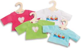 Puppen-T-Shirt farbig bedruckt, Größe 28 - 35 cm
