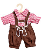 Puppen-Karohemd + Kniebundhose 28 - 33 cm