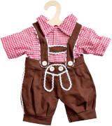 Puppen-Karohemd + Kniebundhose, Größe 35 - 45 cm