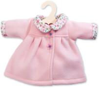 Puppen-Mantel Flausch rosa, 28 - 35 cm