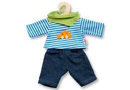 Puppen-Jeans mit Streifenshirt, klein, Gr. 28-35 cm