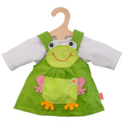 Puppen-Froschkleid, 2-teilig, Gr. 35-45 cm