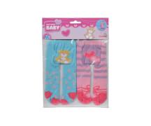 Simba New Born Baby - 2er-Pack Strumpfhosen (blau, rosa)