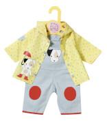 Zapf Dolly Moda Latzhose mit Regenjacke, Gr. 43cm