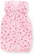 Puppenschlafsack Herzchen, rosa