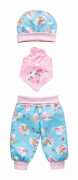 Puppen-Baby-Outfit ''Einhorn Emil & Fee Emma'', 3-teilig, Gr. 28-35 cm