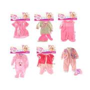 TOITOYS CUTE BABY Kleidung für Babypuppe 20-30cm, 6-fach sortiert
