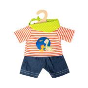 Puppen-Shorts mit T-Shirt Dino, 3-teilig, Gr. 28-35 cm