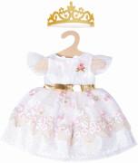 Puppen-Prinzessinnenkleid Kirschblüte  mit goldener Krone, Gr. 28-35 cm