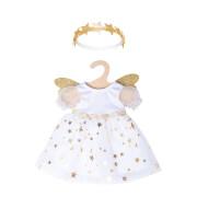 Puppen-Kleid Schutzengel mit Sternen-Haarband, Gr. 28-35 cm